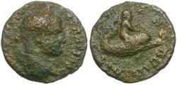 Ancient Coins - Caracalla (AD 198-217). Thrace. Trajanopolis Æ16 / Eros Riding Dolphin