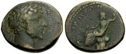 Ancient Coins - Lucius Verus, Syria, Cyrrhestica Cyrrhus Æ23 / Zeus Seated