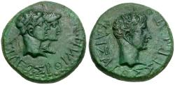 Ancient Coins - Kings of Thrace. Rhoemetalkes and Augustus Æ22