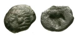 Ancient Coins - aVF/aVF Ionia, Kolophon AR Tetartemorion / Apollo