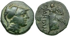 Ancient Coins - Pamphylia. Side Æ16 / Athena