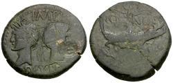 Ancient Coins - Augustus (27 BC-AD 14) with Agrippa. Gaul. Nemausus Æ AS / Crocodile