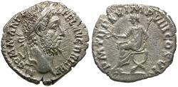 Ancient Coins - Commodus (AD 177-192) AR Denarius / Commodus on Curule