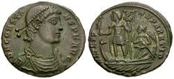 Ancient Coins - Constans (AD 337-350) Æ Centenionalis / Emperor in Galley
