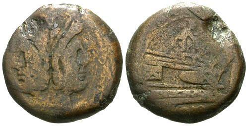 Ancient Coins - gF/gF Roman Republic AS / Ulysses