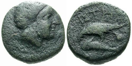 Ancient Coins - VF/VF Istros AE13 / Demeter