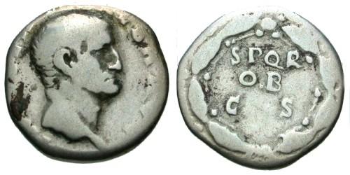 Ancient Coins - F/F Galba Denarius / Legend in Wreath