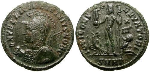 Ancient Coins - VF Licinius II reduced follis, Jupiter reverse