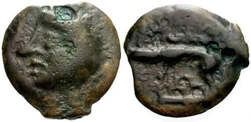 Ancient Coins - aVF/aVF Leuci Tribe / Bald Head Potin