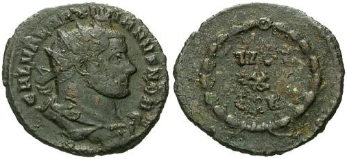Ancient Coins - F+/F+ Galerius AE Fraction / VOT X FK