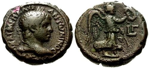 Ancient Coins - VF/VF Elagabalus Egypt Alexandria Potin Tetradrachm / Nike