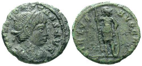 Ancient Coins - aVF/gF Constans AE Follis as Augustus / Virtus