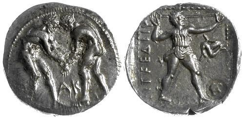 Ancient Coins - EF/EF Pamphylia, Aspendos: AR Stater with Helmet countermark