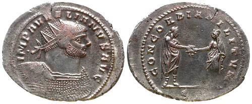 Ancient Coins - Aurelian AR Antoninianus