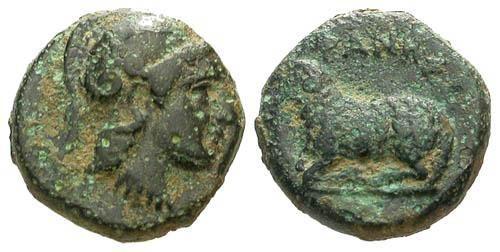 Ancient Coins - VF/VF Ionia Klazomenai AE10 / Ram