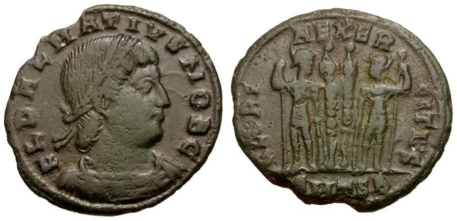 Ancient Coins - Delmatius Æ4 / DALMATIVS