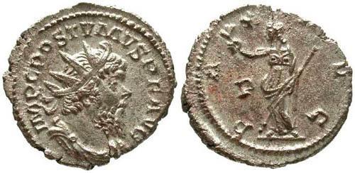 Ancient Coins - VF/VF Postumus Antoninianus / Pax