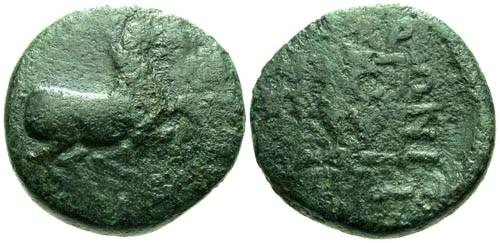 Ancient Coins - VG/VG Thrace Maroneia AE15 / Horse