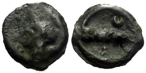 Ancient Coins - EF/EF Carnutes Potin / Wolf