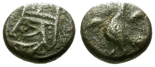 Ancient Coins - gF/gF Kings of Parthia Vologases IV AE Dichalkon / Eagle