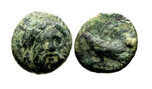 Ancient Coins - aVF/gF Mysia Adramytteion AE13 / Zeus and Eagle
