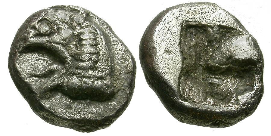 Ancient Coins - Ionia.  Phokaia AR Hemidrachm / Griffin