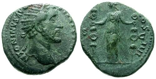 Ancient Coins - VF/VF Antoninus Pius AE Dupondius / Concordia