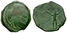 Ancient Coins - Ancient France. Celtic Tribes of Gaul.  Carnutes Æ17 / Eagle