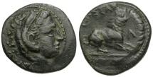 Ancient Coins - Kings of Macedon.  Kassander Æ19 / Lion