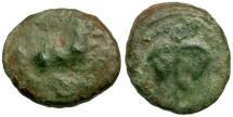 Ancient Coins - Sicily.  Mercenaries. Uncertain mint Æ13 / Ivy Leaf