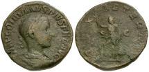 Ancient Coins - Gordian III Æ Sestertius / Pax