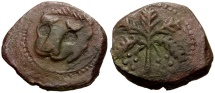 World Coins - Norman Kings of Sicily.  William II Æ Trifollaro / Palm Tree