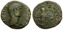 Ancient Coins - Antonia. Mother of Claudius Æ AS / Claudius Togate