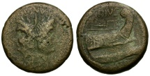 Roman Imperatorial. Sextus Pompey. Son of Pompey the Great Æ AS