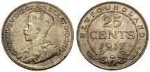 World Coins - Canada.  Newfoundland AR 25 Cents
