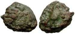 Ancient Coins - Mesopotamia, Hatra Autonomous Issue Æ13 / Shamash / Eagle