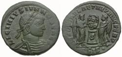 Ancient Coins - Licinius II Caesar (AD 317-324) Æ3 / Two Victories
