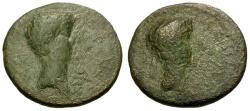 Ancient Coins - gF/gF Augustus and Rhoemetalces I, Thrace Æ18