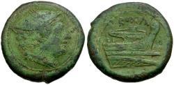 Ancient Coins - 217-215 BC - Roman Republic. Anonymous Æ Semuncia