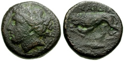 Ancient Coins - Thrace. Kardia Æ20 / Lion