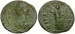 Ancient Coins - Caracalla. Megara. Megaris Æ24 / Artemis