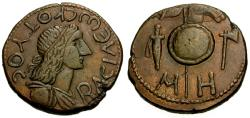Ancient Coins - VF/VF Bosporian Kings, Kotys II Æ 48 Units / Implements of War