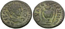 Ancient Coins - Severus Alexander (AD 222-235). Lydia. Thyatira Æ19 / Vase