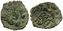 Ancient Coins - Byzantine Empire. Heraclius and Heraclius Constantine Æ Follis