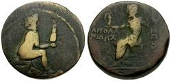 Ancient Coins - Cilicia, Tarsos, Pseudo-autonomous, Time of Tiberius Æ26 / Apollonidas magistrate
