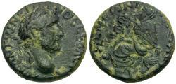 Ancient Coins - Antoninus Pius (AD 138-161). Cappadocia. Tyana Æ22 / Tyche of Tyana Seated