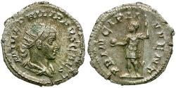 Ancient Coins - Philip II, as Caesar (AD 244-247) AR Antoninianus / Prince Standing