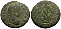 Ancient Coins - VF/aVF Caracalla, Pamphylia Perga Æ24 / Tyche