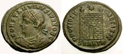 Ancient Coins - EF/EF Constantine II as Caesar Æ3 / Camp Gate