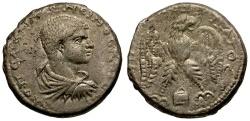 Ancient Coins - Diadumenian Caesar. Mesopotamia. Edessa Billon Tetradrachm / Eagle